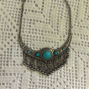 Jewelry - Beautiful turquoise necklace (festival) ✧